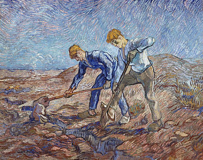 Agronomy Painting - The Diggers by Vincent Van Gogh