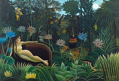 Naive Painting - The Dream  by Henri Rousseau