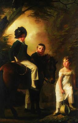 Painting - The Drummond Children by Sir Henry Raeburn