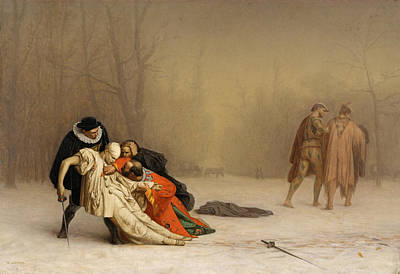 Jean-leon Gerome Painting - The Duel After The Masquerade by Jean-Leon Gerome