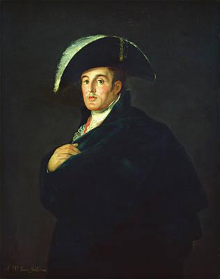 Male Painting - The Duke Of Wellington by Francisco Goya