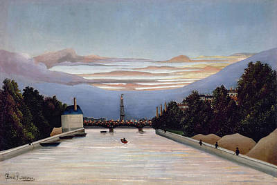 Outlook Painting - The Eiffel Tower by Henri Rousseau