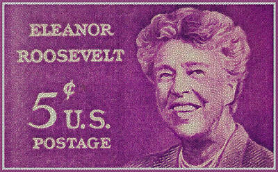 Black History Painting - The Eleanor Roosevelt Stamp by Lanjee Chee