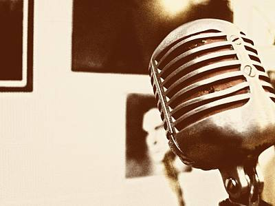 Photograph - The Elvis Mic by JAMART Photography