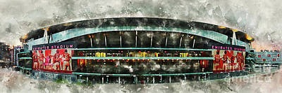 Sports Royalty-Free and Rights-Managed Images - The Emirates Stadium by Airpower Art