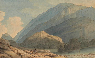 The Entrance Painting - The Entrance Into Borrowdale by Francis Towne