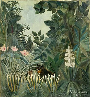 Surrealism Royalty-Free and Rights-Managed Images - The Equatorial Jungle by Henri Rousseau