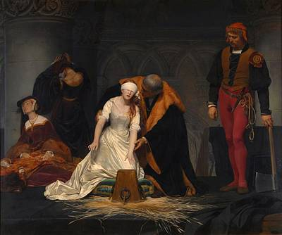 Condemned Painting - The Execution Of Lady Jane Grey by Paul Delaroche