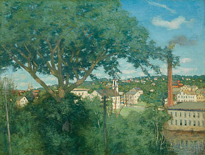 Painting - The Factory Village by Julian Alden Weir