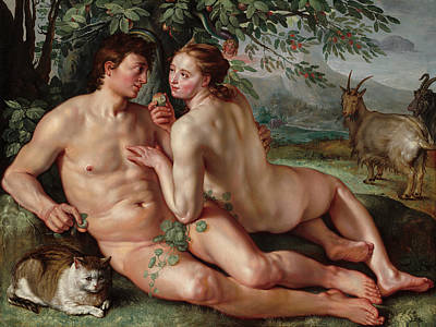 Painting - The Fall Of Man by Hendrick Goltzius