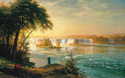 Fall Of River Painting - The Falls Of Saint Anthony by Albert Bierstadt