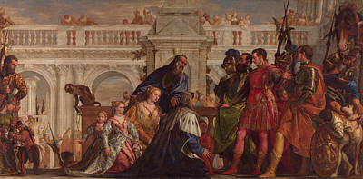 The Family Of Darius Before Alexander Print by Paolo Veronese