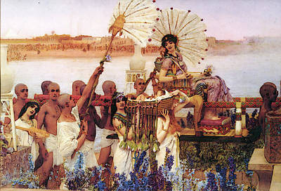 Digital Art - The Finding Of Moses by Sir Lawrence Alma Tadema