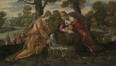 Painting - The Finding Of Moses by Tintoretto