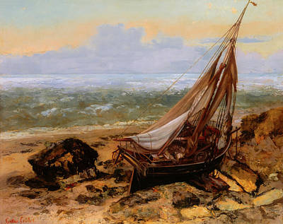 Painting - The Fishing Boat by Gustave Courbet
