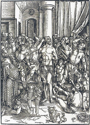 Drawing - The Flagellation by Albrecht Durer