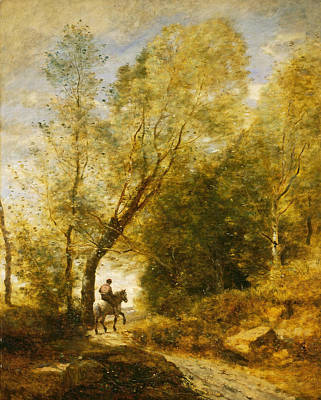The Forest Of Coubron  Art Print by Jean-Baptiste-Camille Corot