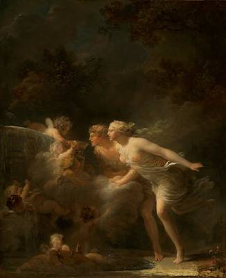 The Fountain Of Love Art Print by Jean-honore Fragonard