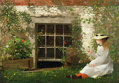 Winslow Homer Painting - The Four Leaf Clover by Winslow Homer