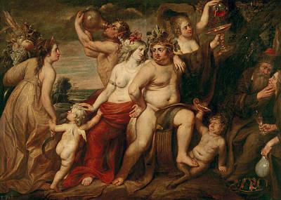 Moral Painting - The Four Seasons by Cornelis de Vos