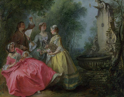 Parable Painting - The Four Times Of Day - Midday by Nicolas Lancret