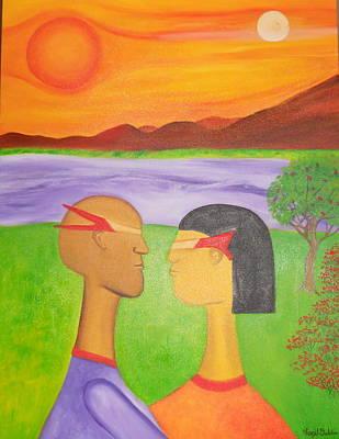 The Future Of Love Art Print by Virgil Dublin