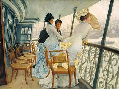 Calcutta Painting - The Gallery Of Hms Calcutta by James Tissot