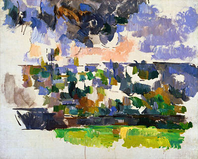 Post Impressionism Painting - The Garden At Les Lauves by Paul Cezanne