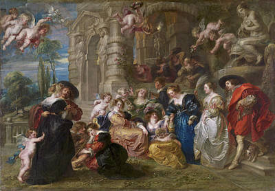 Archangel Painting - The Garden Of Love by Peter Paul Rubens