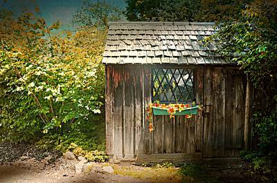 Photograph - The Gardener's Shed by Diana Angstadt
