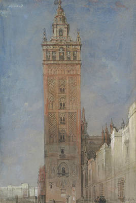 Drawing - The Giralda, Seville by David Roberts