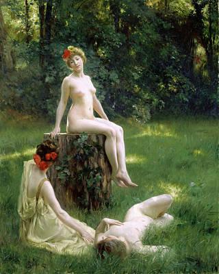 Glades Painting - The Glade by Julius Leblanc Stewart