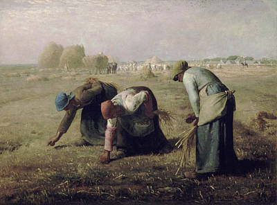 Hay Wagon Photograph - The Gleaners  by Jean Francois Millet