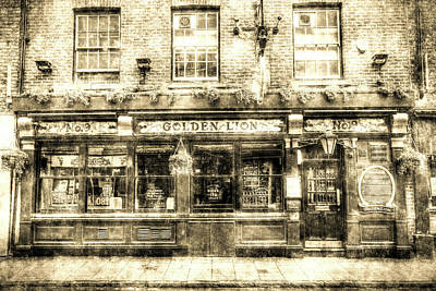 Photograph - The Golden Lion Pub York Vintage by David Pyatt