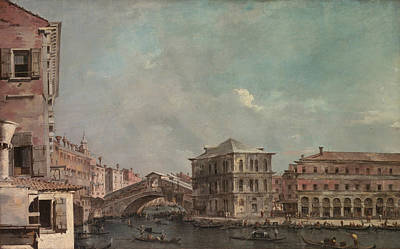 Painting - The Grand Canal Above The Rialto by Treasury Classics Art