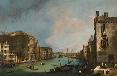Italian Landscapes Painting - The Grand Canal In Venice With The Palazzo Corner Ca'grande by Canaletto