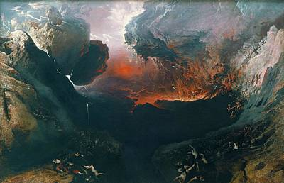 Tate Gallery Painting - The Great Day Of His Wrath  by John Martin