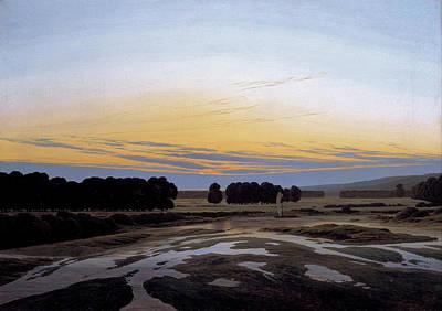 Maritime Painting - The Grosse Gehege Near Dresden by Caspar David Friedrich