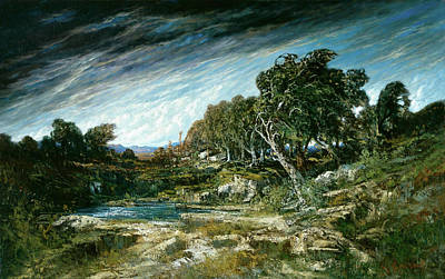 Courbet Painting - The Gust Of Wind by Gustave Courbet