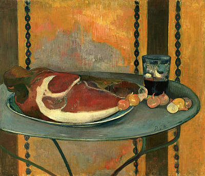 Gauguin Painting - The Ham by Paul Gauguin