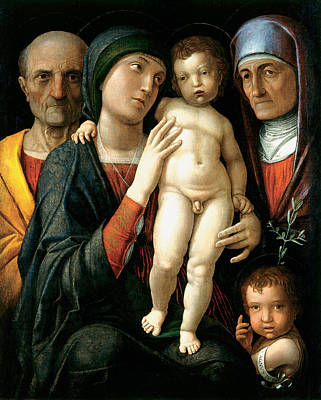 Madonna Painting - The Holy Family by Andrea Mantegna