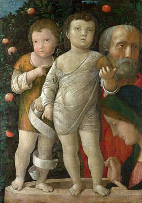 Jesus Painting - The Holy Family With Saint John by Andrea Mantegna