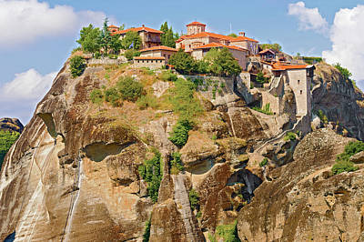 Photograph - The Holy Monastery Of Great Meteoron In Greece by Marek Poplawski