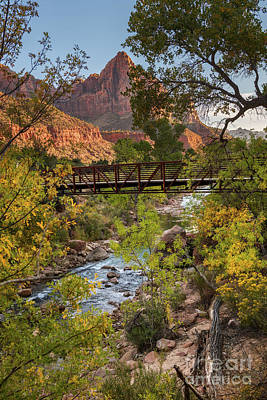 Photograph - The Iconic Watchman In Zion National Park by Jamie Pham