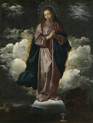 Digital Art - The Immaculate Conception by Diego Velazquez