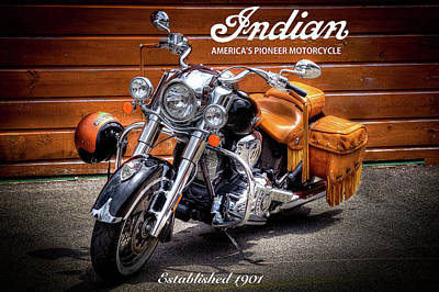 The Indian Motorcycle Art Print by David Patterson