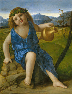 Italian Wine Painting - The Infant Bacchus by Giovanni Bellini