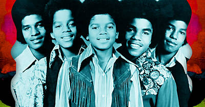 Michael Jackson Mixed Media - The Jackson 5 Collection by Marvin Blaine