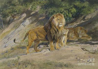 The King Watches Art Print by Celestial Images