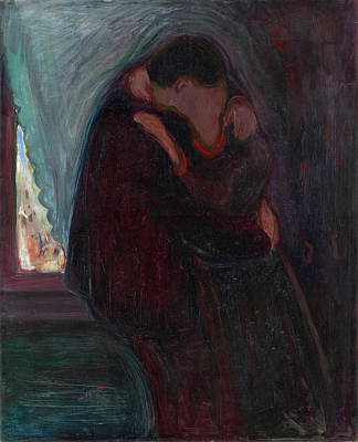 Couple Painting - The Kiss by Edvard Munch